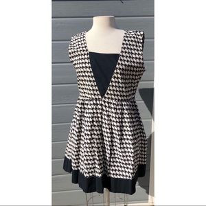 Mata Traders black and white houndstooth dress
